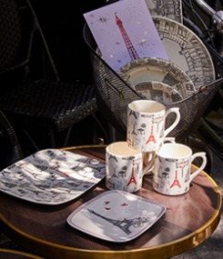 Французский фаянс Gien Коллекция посуды с французским характером ÇA C'EST PARIS! (Это Париж!)