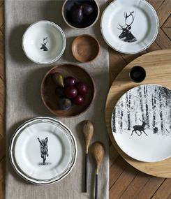 Французский фаянс Gien Анималистическая коллекция посуды CHAMBORD (Шамбор)