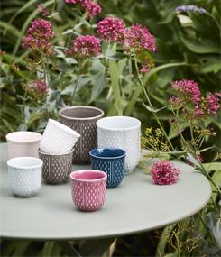 Французский фаянс Gien Стаканчики с цветной глазурью для кофе и чая PETITS CHOUX (Маленькие ростки)