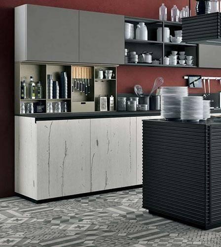 Новый спектр металлических элементов для кухни от Lube Cucine