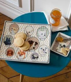 Французский фаянс Gien Коллекция посуды для любителей собак DARLING DOG (Любимая собака)