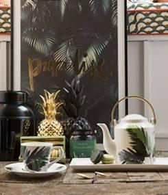 Французский фаянс Gien Тропическая коллекция посуды JARDINS EXTRAORDINAIRES