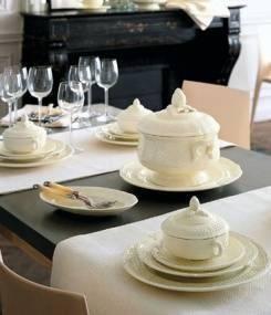 Французский фаянс Gien Французский классический обеденный сервиз PONT AUX CHOUX (Капустный мост)