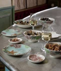 Французский фаянс Gien Коллекция посуды с морской тематикой OCÉAN (Океан)
