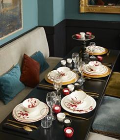 Французский фаянс Gien Эклектичная коллекция посуды GARANCE (Марена)