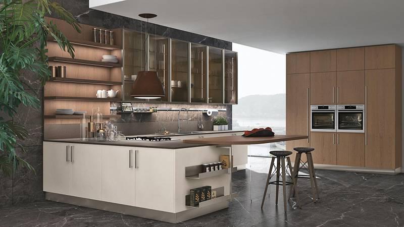 Обновленная кухня Clover от фабрики Lube cucine