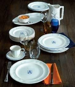 Французский фаянс Gien Именная коллекция посуды MONOGRAM (Монограммы)