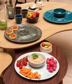 Французский фаянс Gien Коктейльная тарелка с пиалой SET COCKTAIL (Коктейльный сет)