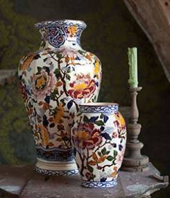 Французский фаянс Gien Коллекция ваз и декора PIVOINES (Пионы) Prestige