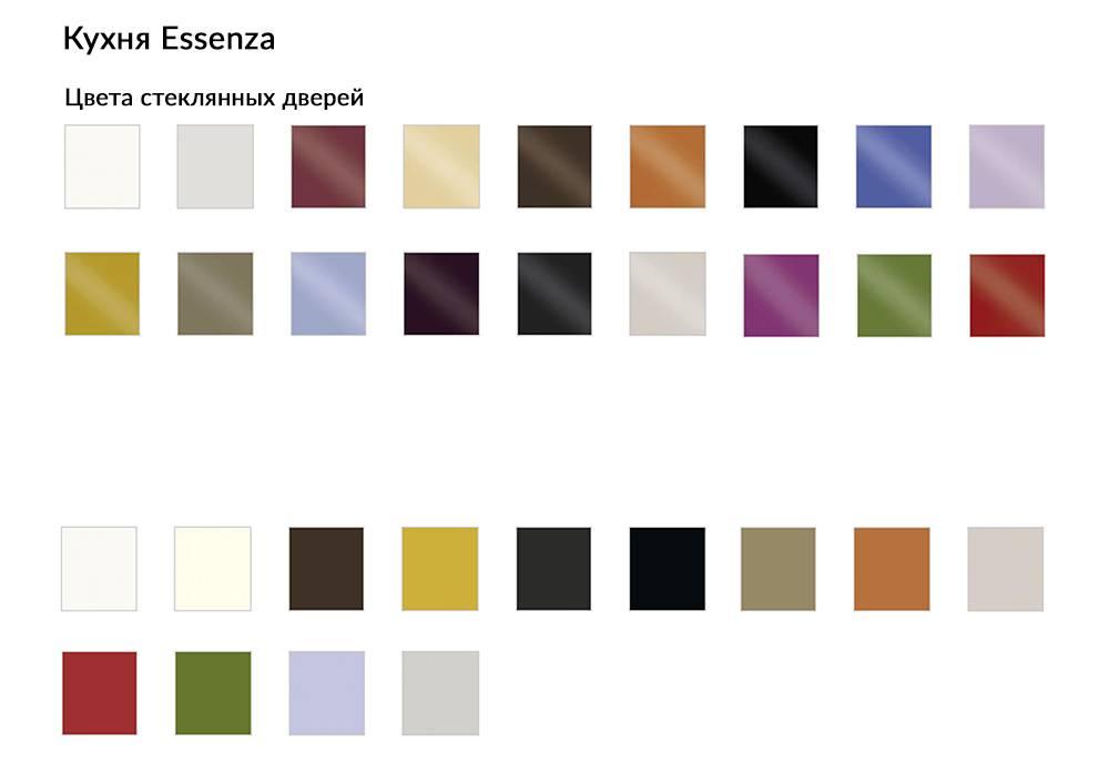 Кухня Essenza цвета стеклянных дверей