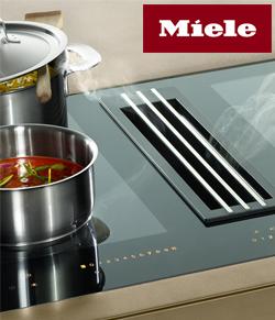 Индукционная панель конфорок со встраиваемой вытяжкой TwoInOne от Miele