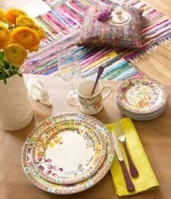Французский фаянс Gien Этническая коллекция посуды BAGATELLE (Милые вещицы)