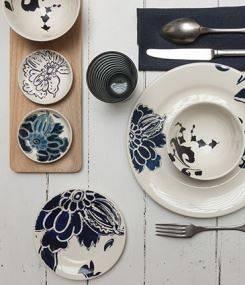 Французский фаянс Gien Эклектичная коллекция посуды INDIGO (Индиго)