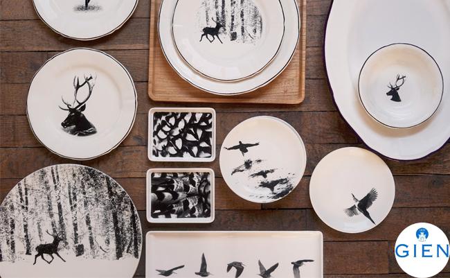Анималистическая коллекция посуды с черно-белыми фотографиями дикой природы от Gien