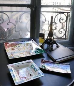 Французский фаянс Gien Тематическая коллекция посуды PARIS.PARIS (Париж. Париж)