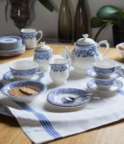 Французский фаянс Gien Классическая коллекция посуды с орнаментом ROUEN 37 (Руан 37)