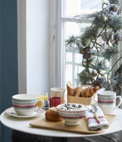Французский фаянс Gien Зимняя коллекция посуды HIVER SCANDINAVE (Скандинавская зима)