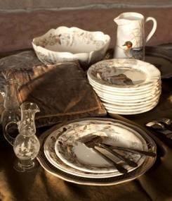 Французский фаянс Gien Самая полная коллекция посуды с охотничьими мотивами SOLOGNE (Солонь)