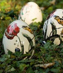 Французский фаянс Gien Пасхальные яйца OEUFS SUR SOCLE (Яйца на подставке) Prestige