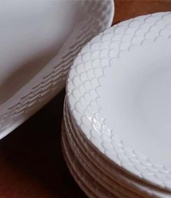 Французский фаянс Gien Посуда для рыбных блюд ECAILLES (Чешуя)
