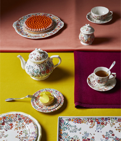 Французский фаянс Gien Цветочная коллекция посуды Poésie (Поэзия) парад цветов