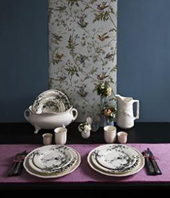 Французский фаянс Gien Весенняя коллекция посуды LES OISEAUX (Птицы)