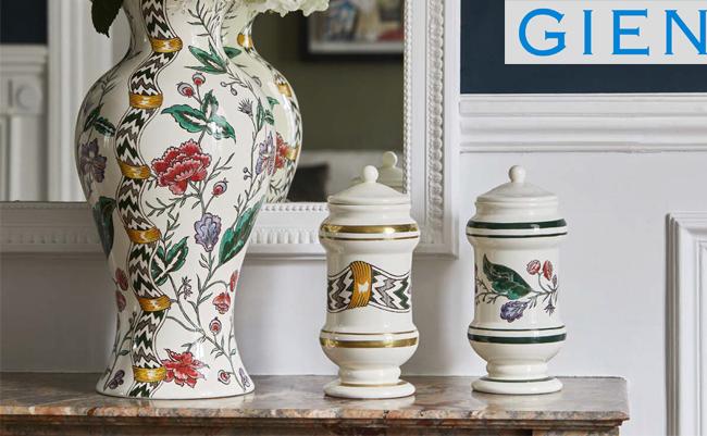 Dominoté Prestige – роскошная коллекция посуды с ручной росписью от Gien