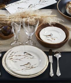 Французский фаянс Gien Осенняя коллекция посуды LES OISEAUX DE LA FORÊT (Птичьи трели)