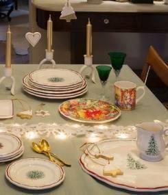 Французский фаянс Gien Новогодняя коллекция посуды NOËL (Рождество)
