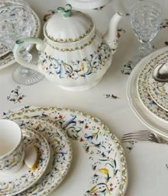 Французский фаянс Gien Бестселлер GIEN, обеденная  коллекция посуды TOSCANA (Тоскана)
