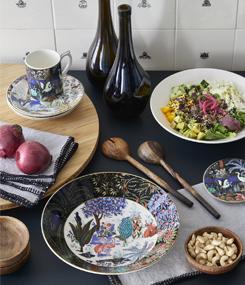 Французский фаянс Gien Посуда с экзотичной растительностью LE JARDIN DU PALAIS (Королевский сад)