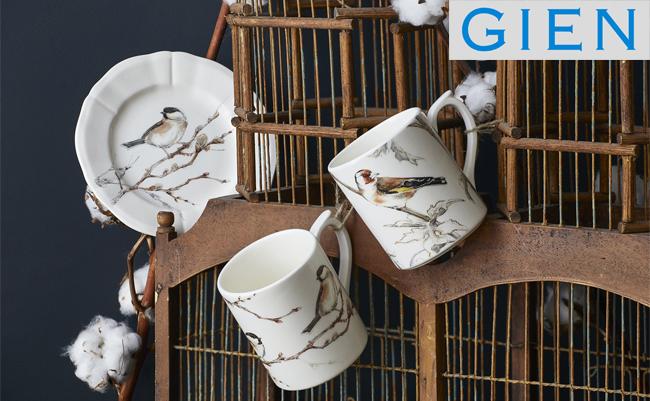 Нежная коллекция посуды с птицами - les oiseaux de la forêt от Gien