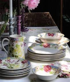 Французский фаянс Gien Цветочная коллекция посуды MILLEFLEURS (Тысяча цветов)