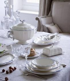 Французский фаянс Gien Классическая коллекция посуды FILET COULEUR (Цветная окантовка)