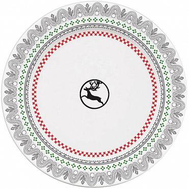 """Тарелки для сладостей """"Северный олень"""" Hiver scandinave 6шт"""