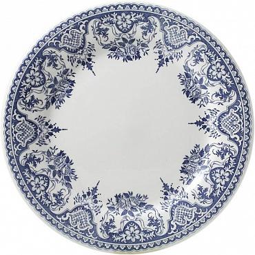 Тарелки для канапе ROUEN FLEURI POUR NOËL синий 4шт