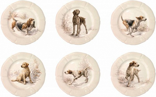 Тарелки десертные SOLOGNE chiens 6шт