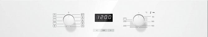 Духовой шкаф H2661B BRWS бриллиантовый белый