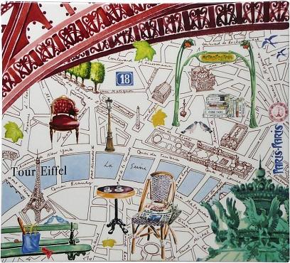 Блюдо квадратное большое PARIS.PARIS