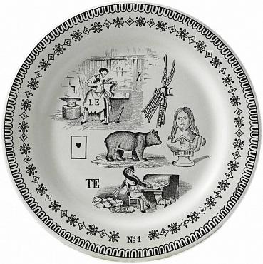 Тарелка для сладостей LES RÉBUS №1 1шт