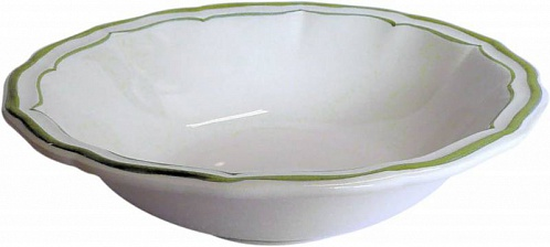 Тарелки для супа FILET COULEUR зеленый 4шт