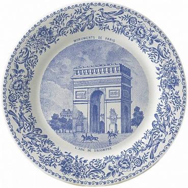 Тарелка десертная LES MONUMENTS DE PARIS №2 1шт