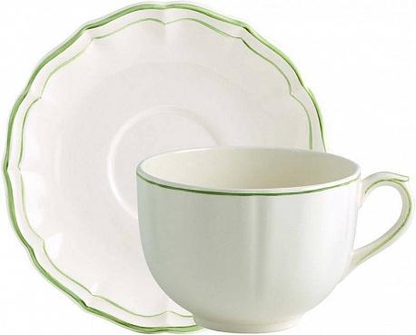Чайная пара большая FILET COULEUR зеленый
