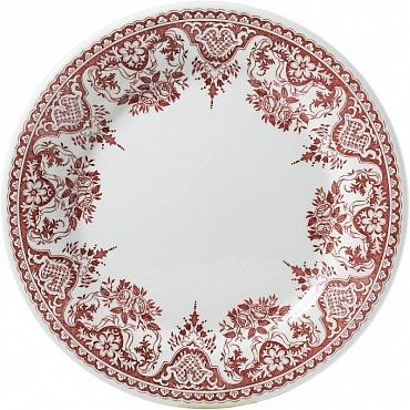 Тарелки для канапе ROUEN FLEURI POUR NOËL красный 4шт