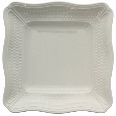 Блюдо квадратное глубокое PONT AUX CHOUX blanc