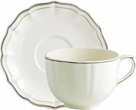 Чайная пара большая FILET COULEUR коричневый