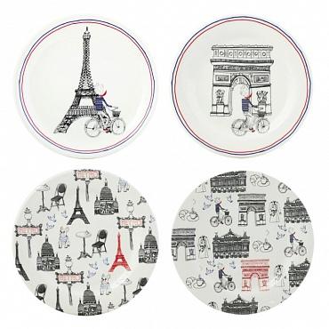 Тарелки для канапе Ça C'est Paris 4шт