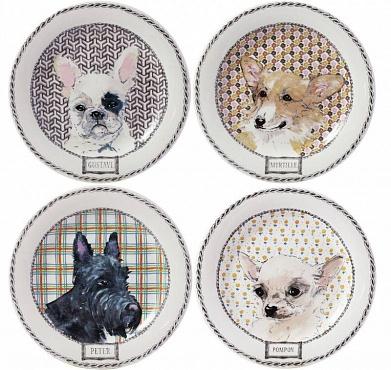 Тарелки для канапе DARLING DOG 4шт