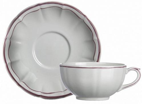 Чайная пара обеденная FILET COULEUR розовый 2шт