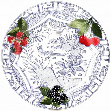 Тарелки №2 OISEAU BLEU – FRUITS 4шт